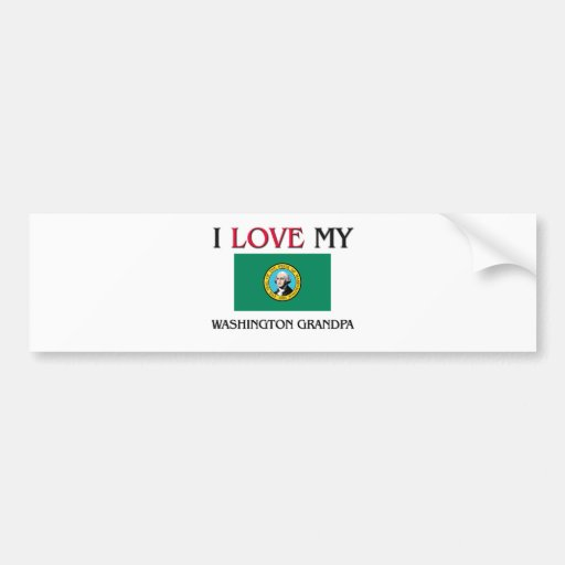 I Love My Washington Grandpa Bumper Sticker