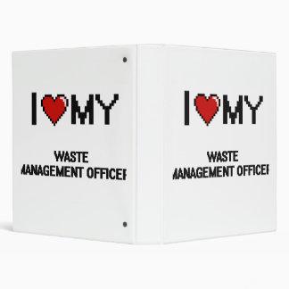 I love my Waste Management Officer Vinyl Binder