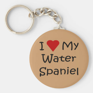I Love My Water Spaniel Dog Breed Lover Gifts Keychain