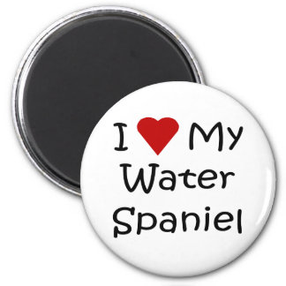 I Love My Water Spaniel Dog Breed Lover Gifts 2 Inch Round Magnet