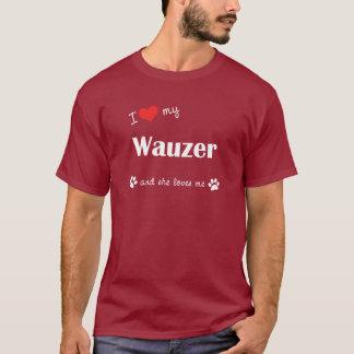 I Love My Wauzer (Female Dog) T-Shirt