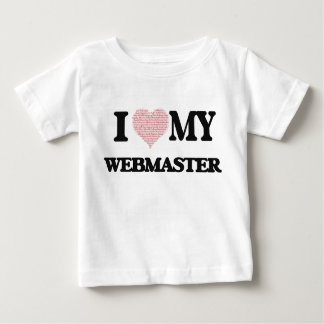 I love my Webmaster (Heart Made from Words) T-shirt
