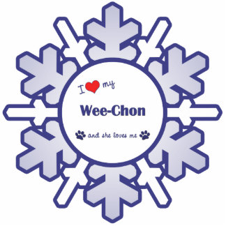 I Love My Wee-Chon (Female Dog) Cutout