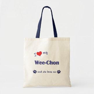 I Love My Wee-Chon (Female Dog) Tote Bag