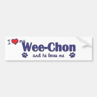 I Love My Wee-Chon (Male Dog) Car Bumper Sticker