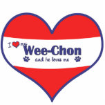 I Love My Wee-Chon (Male Dog) Photo Sculpture