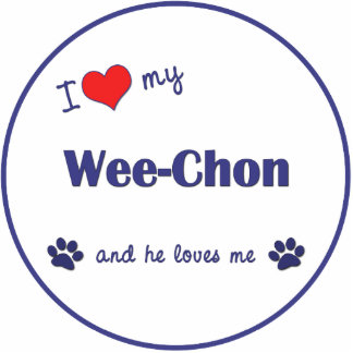 I Love My Wee-Chon (Male Dog) Statuette