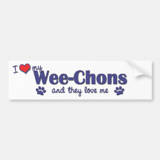 I Love My Wee-Chons (Multiple Dogs) Car Bumper Sticker