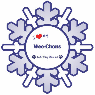 I Love My Wee-Chons (Multiple Dogs) Cutout