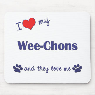 I Love My Wee-Chons (Multiple Dogs) Mouse Pad