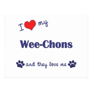 I Love My Wee-Chons (Multiple Dogs) Postcard