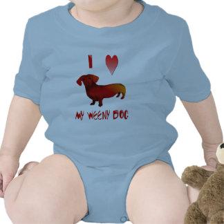 I Love My Weeny Dog mousepad Tee Shirts