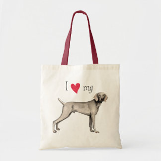 I Love my Weimaraner Budget Tote Bag