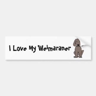 I Love My Weimaraner Bumper Sticker