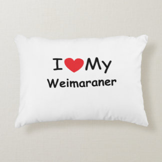 I love my Weimaraner dog Accent Pillow