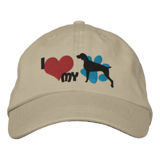 I Love my Weimaraner Embroidered Hats
