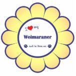 I Love My Weimaraner (Male Dog) Photo Cut Outs