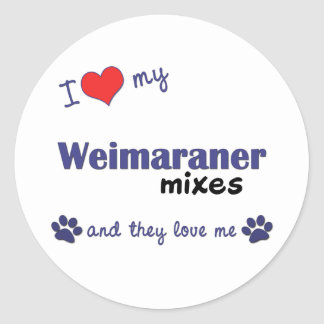 I Love My Weimaraner Mixes (Multiple Dogs) Stickers