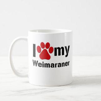 I Love My Weimaraner Mugs
