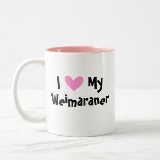 I Love My Weimaraner Two-Tone Coffee Mug