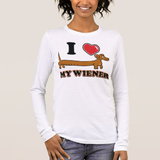 I love my Weiner - Dachshund Long Sleeve T-Shirt