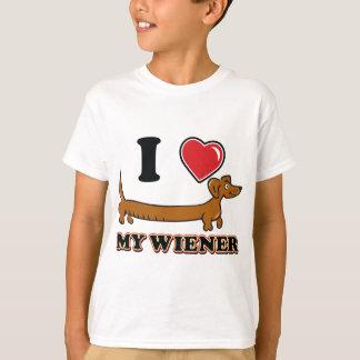 I love my Weiner - Dachshund T-Shirt