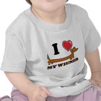 I love my Weiner - Dachshund T Shirt