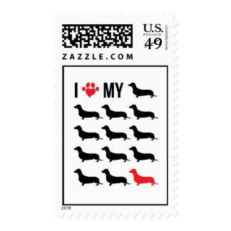 I Love My Weiner Stamps