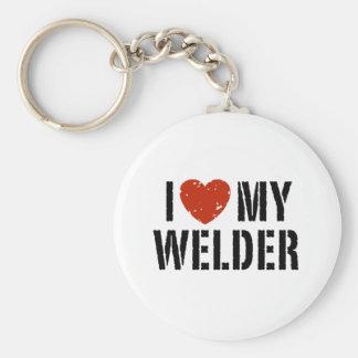I Love My Welder Keychain