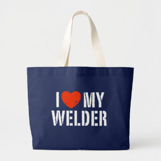 I Love My Welder Large Tote Bag