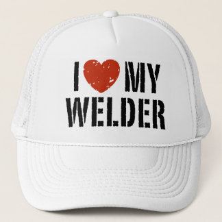 I Love My Welder Trucker Hat