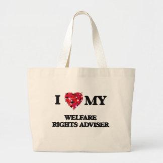 I love my Welfare Rights Adviser Jumbo Tote Bag