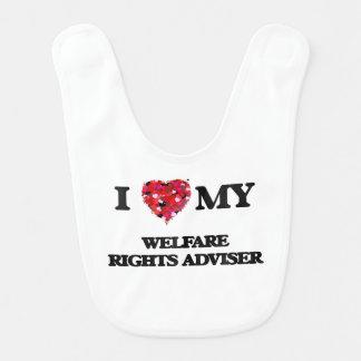 I love my Welfare Rights Adviser Baby Bib