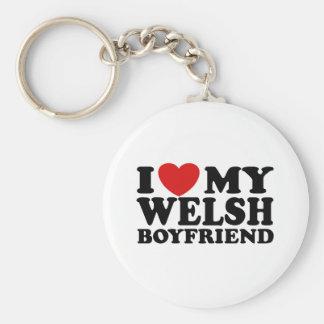 I Love My Welsh Boyfriend Basic Round Button Keychain