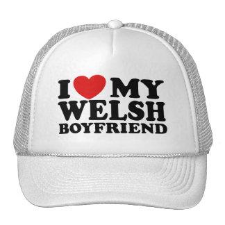 I Love My Welsh Boyfriend Hats