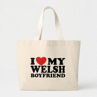 I Love My Welsh Boyfriend Large Tote Bag