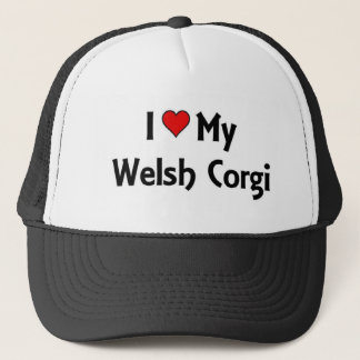 I love my welsh corgi trucker hat