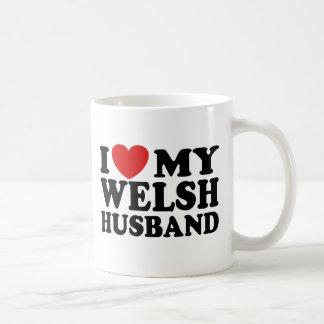 I Love My Welsh Husband Coffee Mugs
