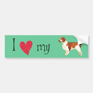 I Love my Welsh Springer Spaniel Bumper Sticker