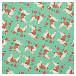 I Love my Welsh Springer Spaniel Fabric