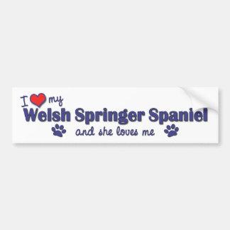 I Love My Welsh Springer Spaniel (Female Dog) Bumper Sticker