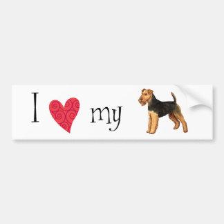 I Love my Welsh Terrier Bumper Sticker
