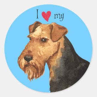 I Love my Welsh Terrier Classic Round Sticker