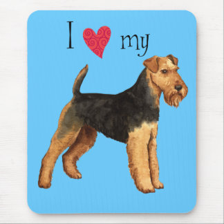 I Love my Welsh Terrier Mouse Pad