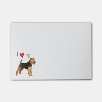 I Love my Welsh Terrier Post-it Notes