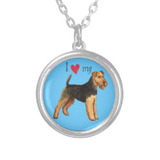 I Love my Welsh Terrier Silver Plated Necklace