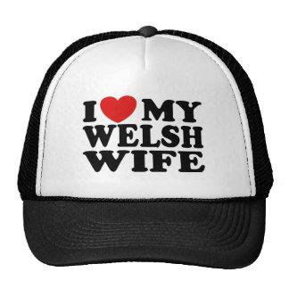 I Love My Welsh Wife Mesh Hat