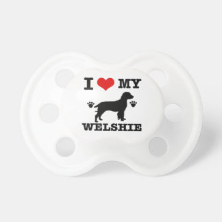 I love my Welshie Baby Pacifier