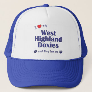 I Love My West Highland Doxies (Multiple Dogs) Trucker Hat