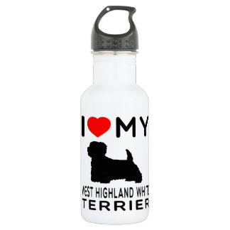 I Love My West Highland White Terrier 18oz Water Bottle